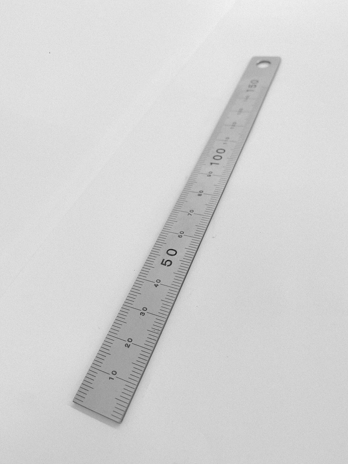 精密板金部品 レーザーマーキング ケガキ加工 ステンレス製定規