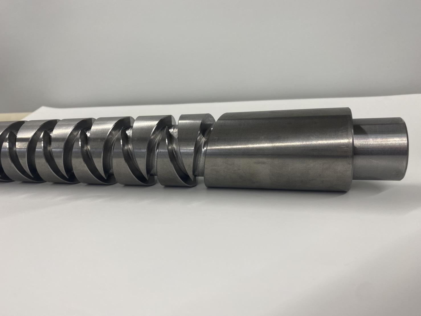 切削加工部品 螺旋溝加工 S45C 5軸マシニング加工
