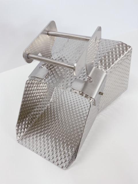 ファイバーレーザーロボット溶接 食品機械関連部品 SUS304エンボス材